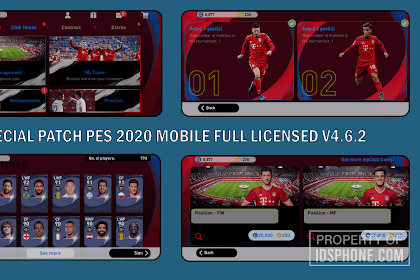 BAYERN MUNCHEN PATCH PES 2020 MOBILE V4.6.2 BY IDSPHONE