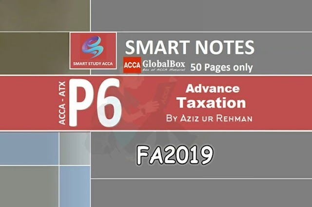 Smart Notes | P6 - ATX (UK) | FA2019 | by Aziz ur Rehman | 20/21
