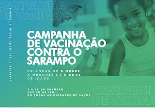 Campanha de Vacinação contra o sarampo em Cajati