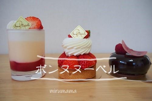 ボンヌヌーベルのケーキ