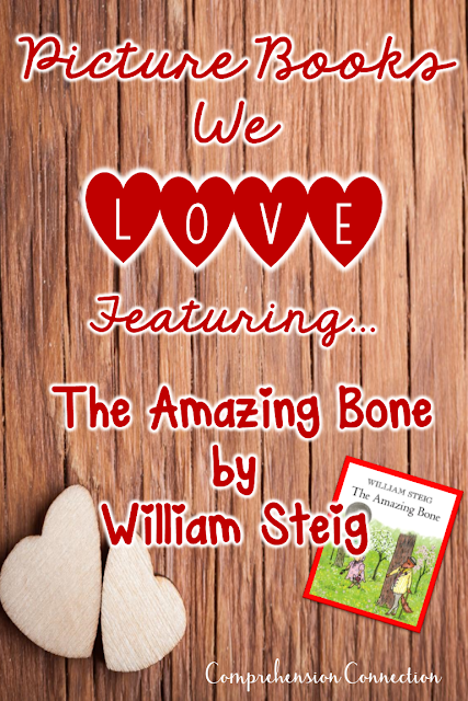 The Amazing Bone by William Steig is a fun fractured fairy tale. It is very rich with vocabulary and depth, and it works well for modeling many reading skills. This post includes a comprehension focus for characterization, drawing conclusions, author's craft, and more.