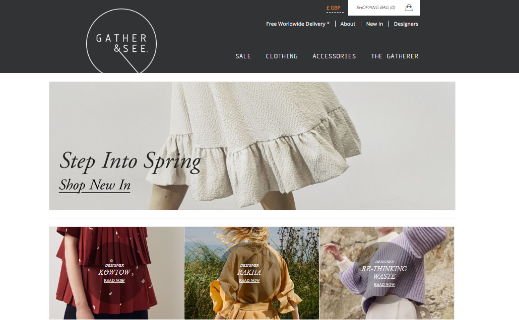Sustainable Fashion Store Gather and See - Best online ethical fashion stores - Vegan and ethical fashion