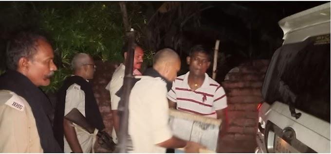 मुजफ्फरपुर,आबकारी विभाग की छापेमारी में बड़ी मात्रा में देशी-विदेशी शराब के तीन व्यवसायी गिरफ्तार