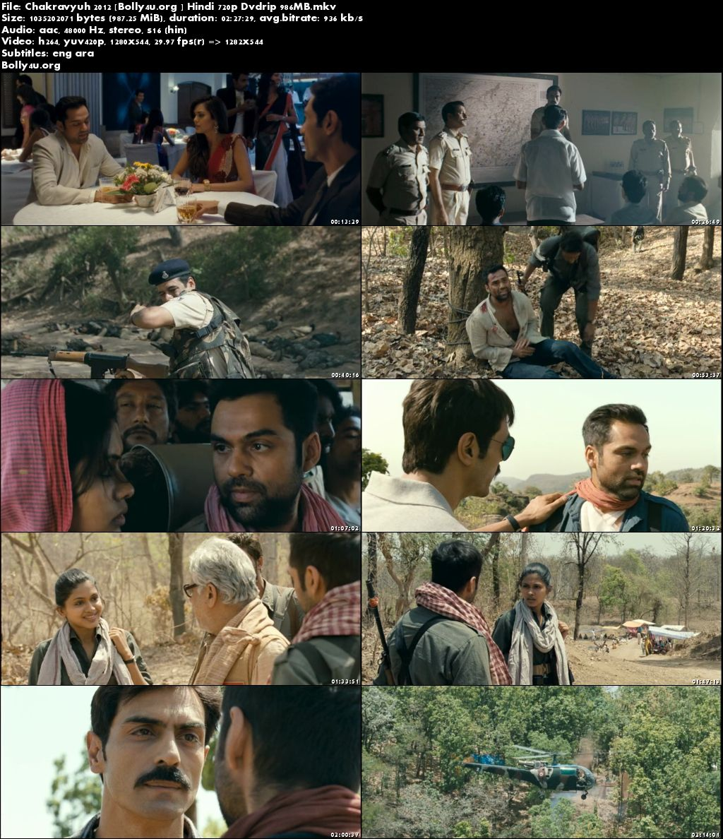 Chakravyuh 2012 DVDRip 950MB Hindi Movie 720p Download
