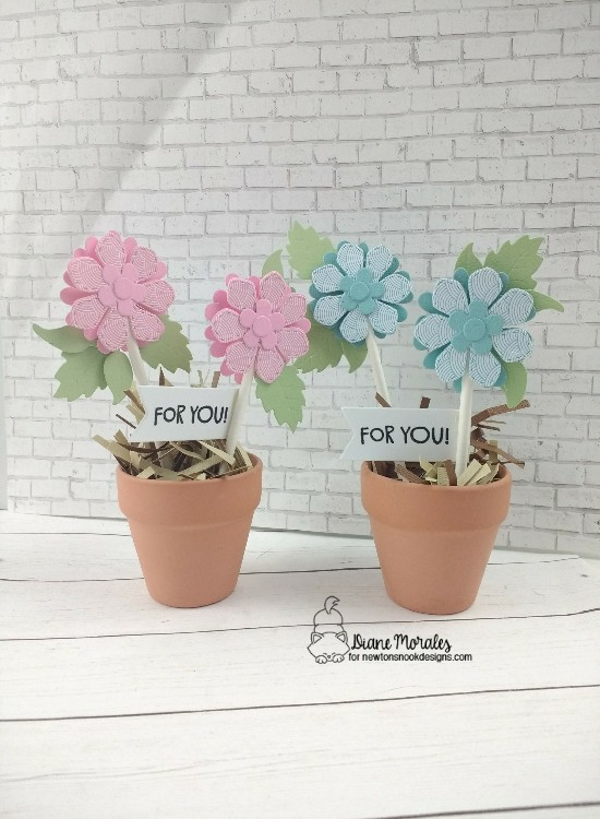 For you by Diane features Flower Trio, Thankful Thoughts, and Frames & Flags by Newton's Nook Designs; #newtonsnook