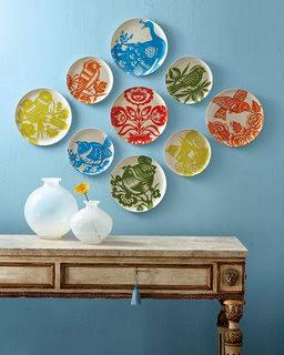Resultado de imagem para pratos na parede da varanda