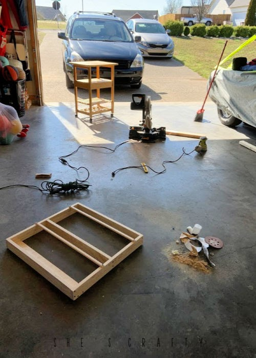 workshop for making wall mounted dish rack