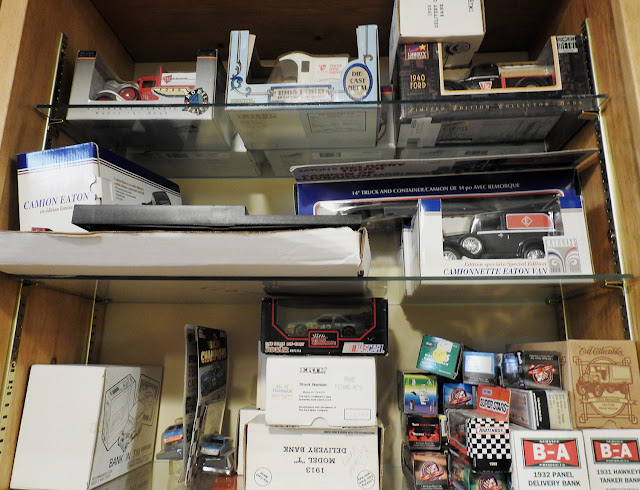 Sears, Eatons, TSC Store and some Nascar toys, all still in boxes being offered for sale.