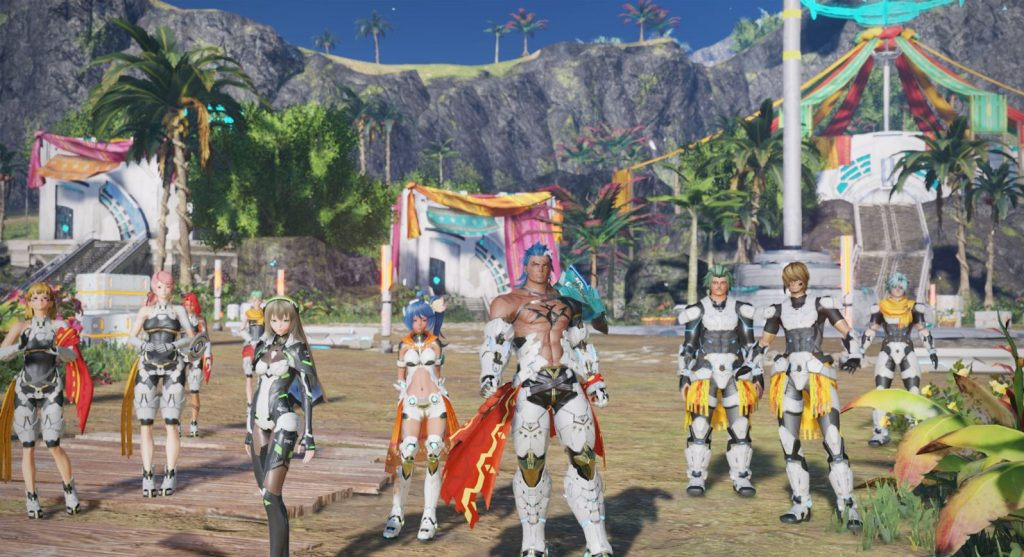 The most fun is PSO2: NG with other players
