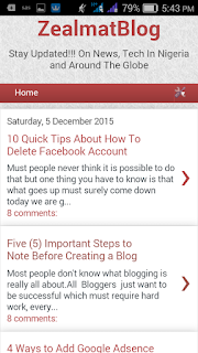 How To Add Gadgets On Mobile View Blogger 3