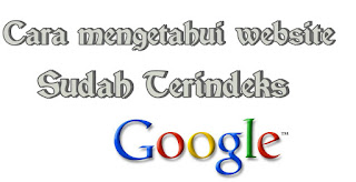 Cara Mengetahui Website Sudah Terindex Google Terbaru