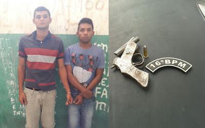 Dupla rouba moto em Chapadinha, e é presa em Anapurus pela Policia Militar