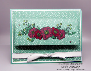 Interactive card with a partial die cut door featuring Stampin'Up!'s Bloom and Grow stamp set
