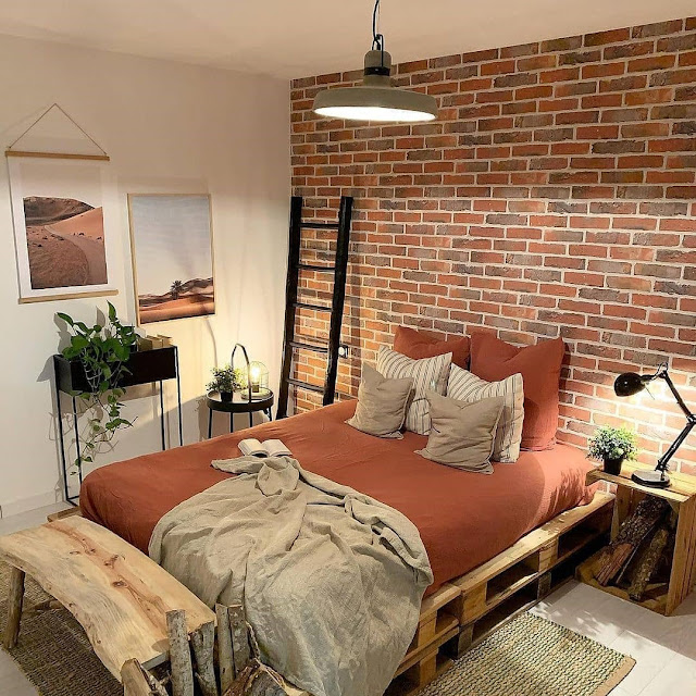 Desain Kamar Tidur 3×3 Ekspos Batu Bata Terbaru