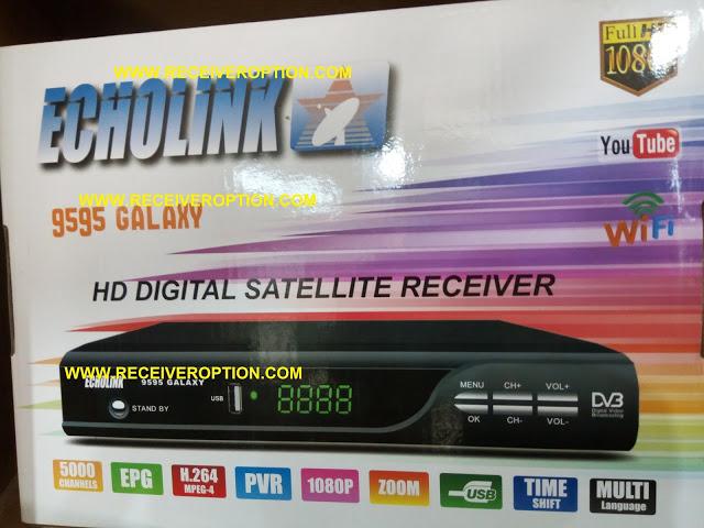 ECHOLINK 9595 GALAXY HD RECEIVER AUTO ROLL POWERVU KEY NEW SOFTWARE