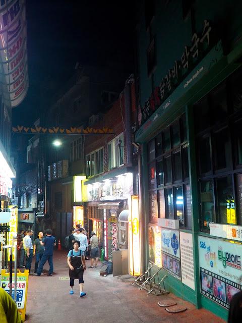 Dakgalbi Myeong-dong street, Chuncheon, South Korea