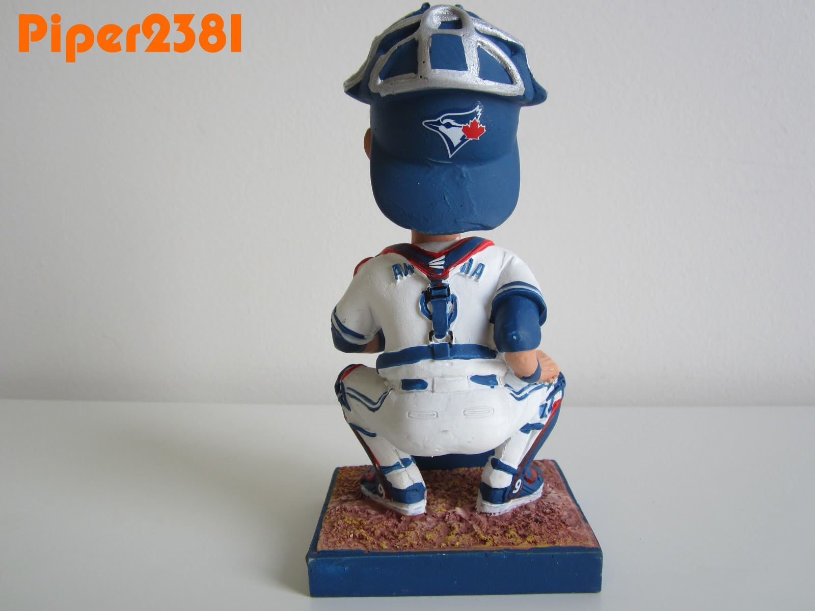 a3eb34de426 This is a unique bobblehead for me because JP is in a squatting catcher s  position. The paintjob is a little better than average for a free giveaway.