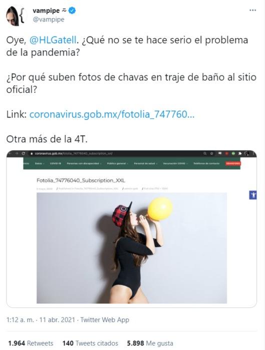 Página de gobierno de México publica por error chicas en lencería para hablar de covid-19
