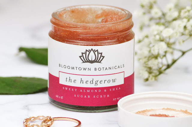 Lovelaughslipstick Blog - Bloomtown Botanicals The Woods & The Hedgerow Sugar Scrub and the Rose Garden Infused Oil Review