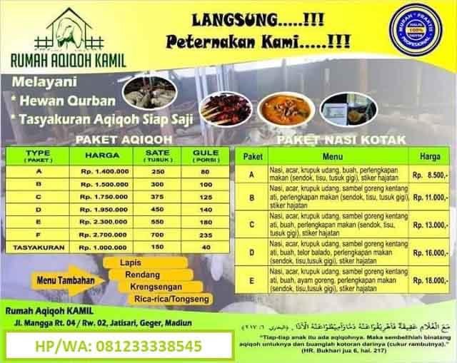 layanan paket aqiqah madiun