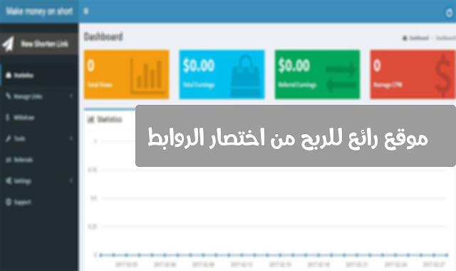 موقع رائع للربح من اختصار الروابط للدول العربية باسعار جيدة
