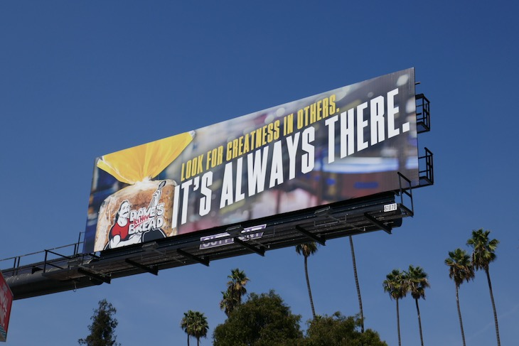 greatness in others Daves Killer Bread billboard
