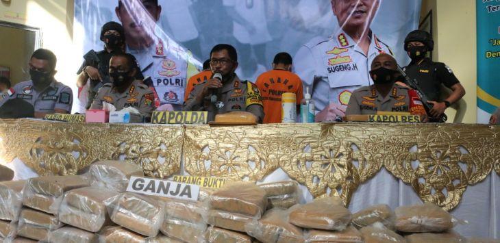 Pakai Modus Pengiriman Cargo, Polisi Gagalkan Penyelundupan Ganja 200 Kilogram di Aceh