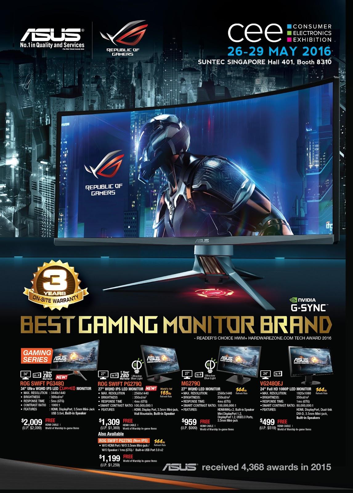 Asus gaming desktops amp monitors brochures from cee show 2016 singapore - Asus Gaming Desktops Amp Monitors Brochures From Cee Show 2016 Singapore 3