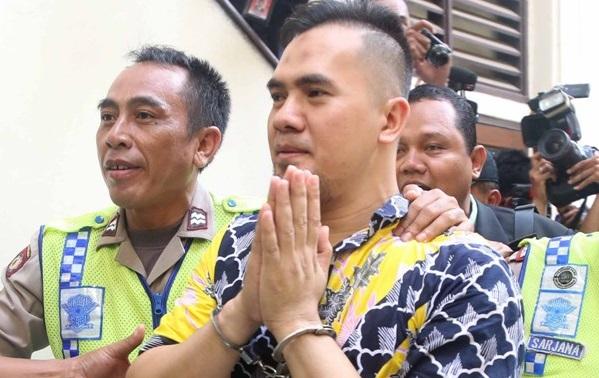 Saipul Jamil saat tiba di PN Jakarta Utara
