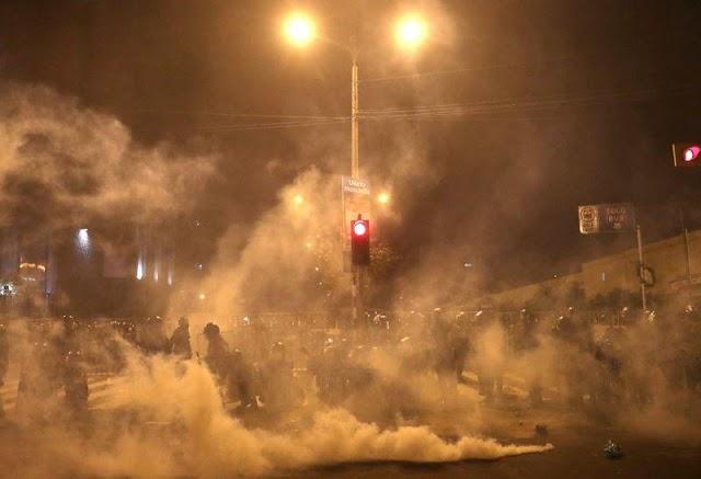 Al menos 11 heridos, dos con armas de fuego, dejan protestas en Perú