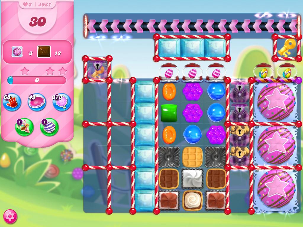 Candy Crush Saga level 4987