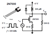 Inductive Spiking and Diode Clamp in Switching Circuit