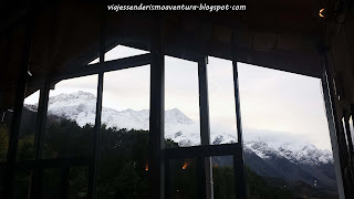 Vistas desde el interior del Old Mountaineers' Cafe, Bar & Restaurant