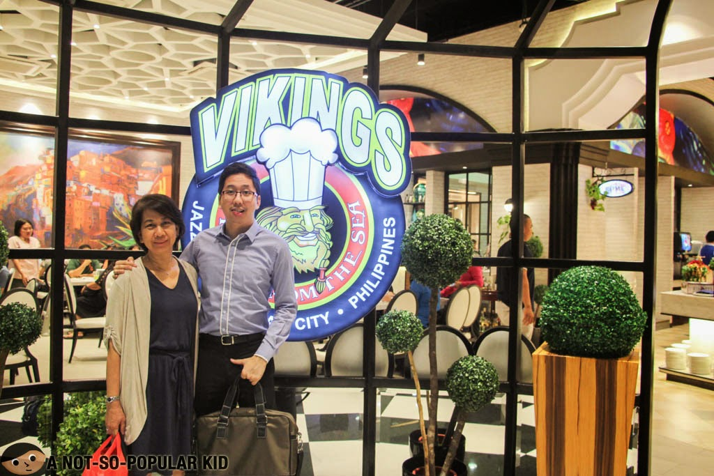 With my mom in the newest branch of Vikings Buffet Restaurant in SM Jazz, Makati