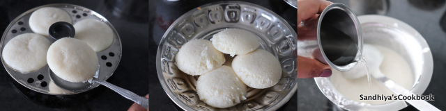 Making of idli