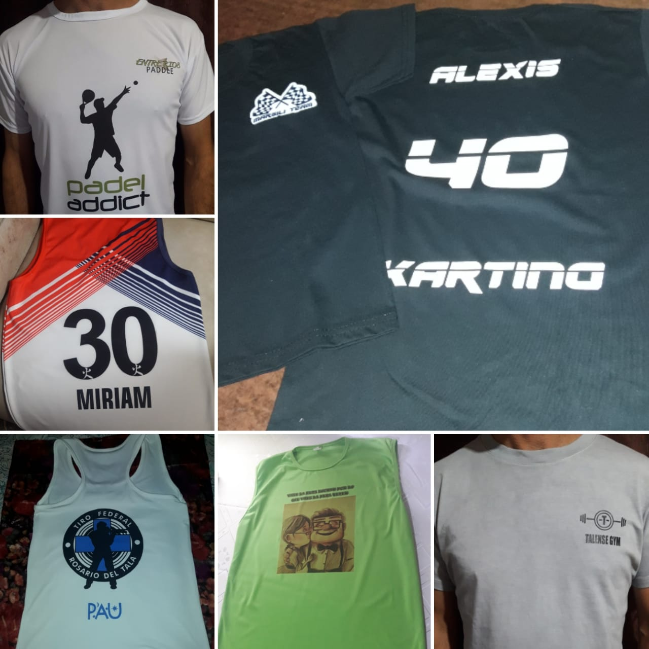 remeras sublimadas