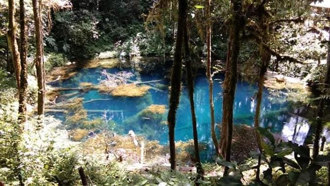 telaga biru wisata alam jambi