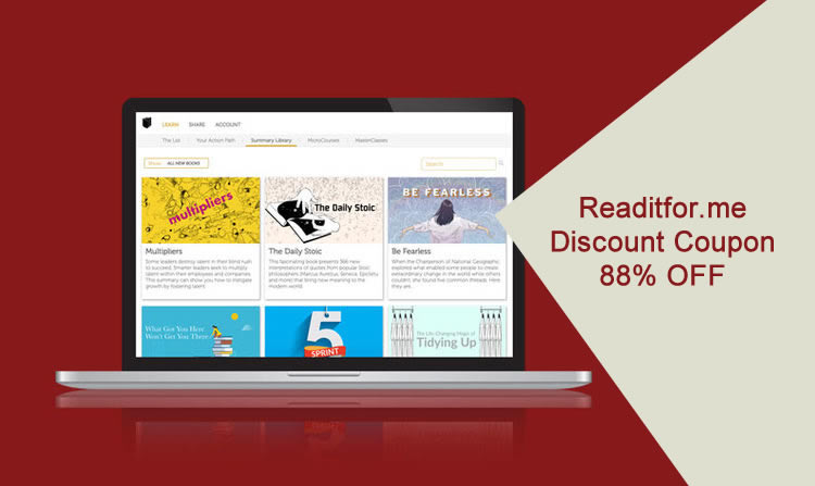 Readitforme discount coupon for Standard Plan