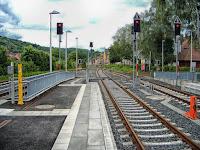 image of train tracks