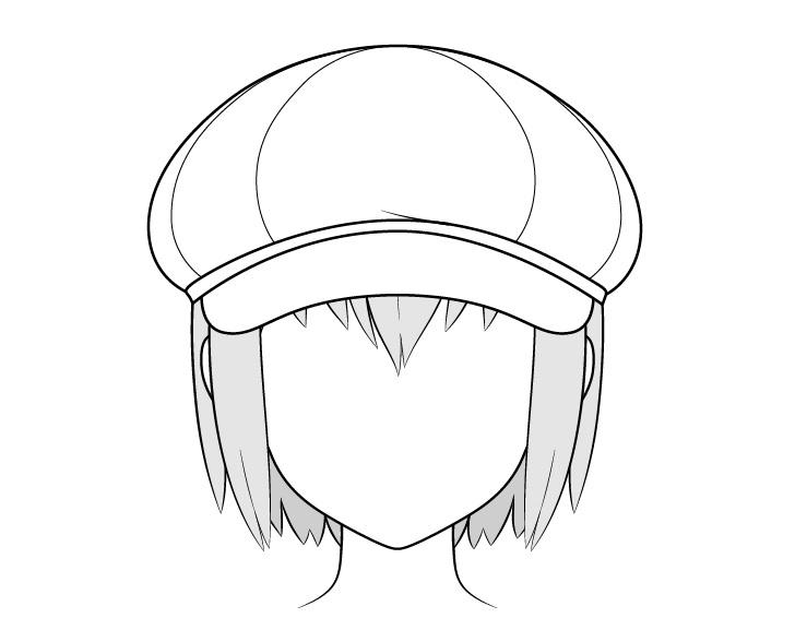 Gambar topi tukang koran anime