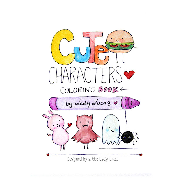 Day 10: Cute Characters Coloring Book Giveaway