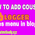 How ADD COUSTOM PAGES MENU TO YOUR BLOG