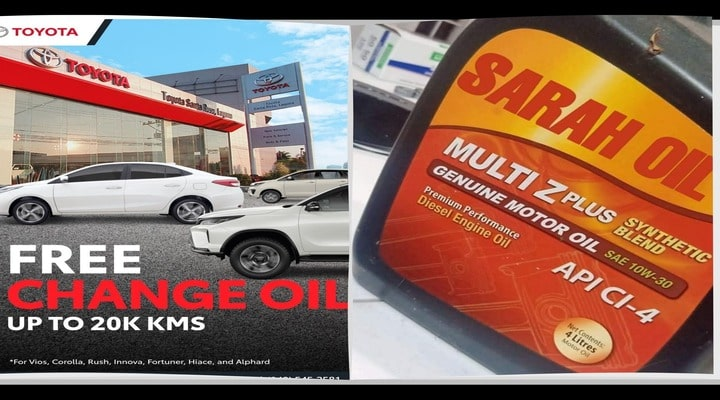 """Free Change Oil"" promo trends online"