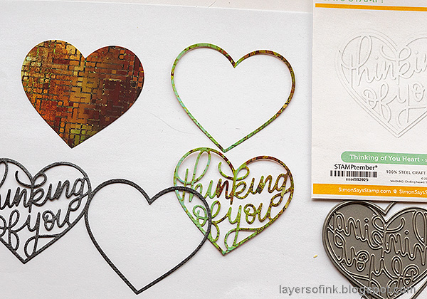 Layers of ink - Heart Shaker Cards Tutorial by Anna-Karin Evaldsson. Paper hearts.