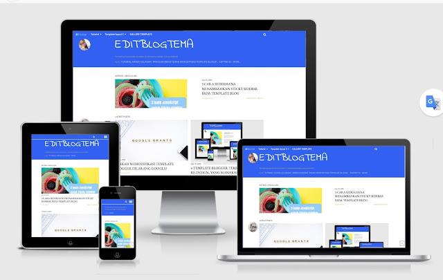profile pada sidebar halaman blog