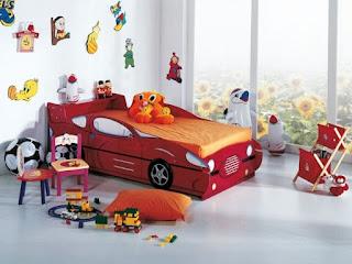 habitación para niño tema coches