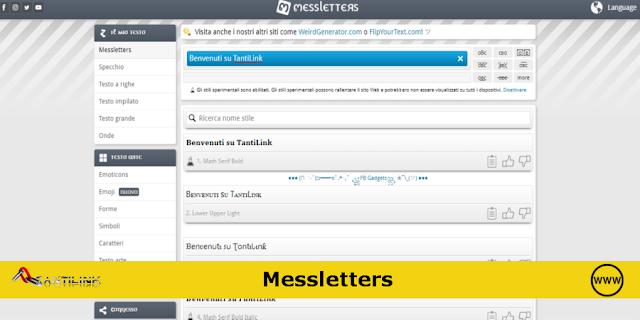 Messletters, crea online scritte personalizzate