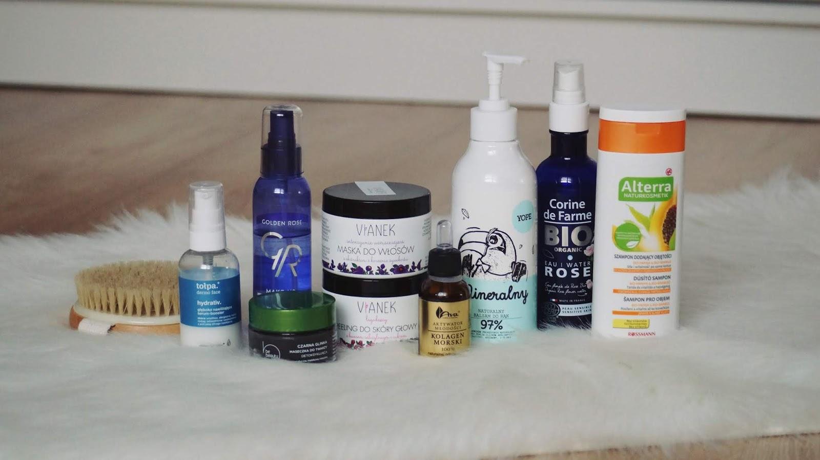 Ulubieńcy kosmetyczni ostatnich kilku miesięcy - Yope, Vianek, Alterra, BeBeauty, Laboratorium Ava, Corine de Farme, Tołpa, Golden Rose
