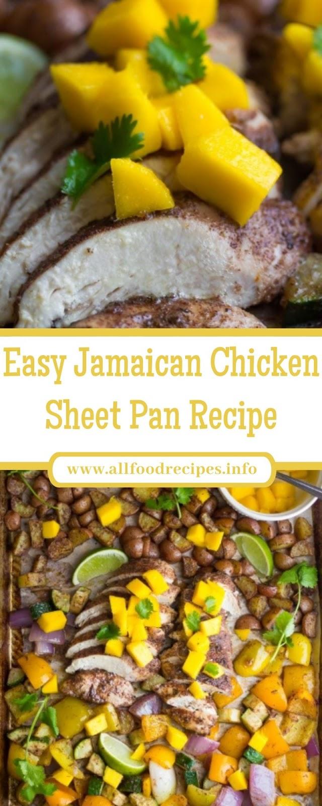 Easy Jamaican Chicken Sheet Pan Recipe