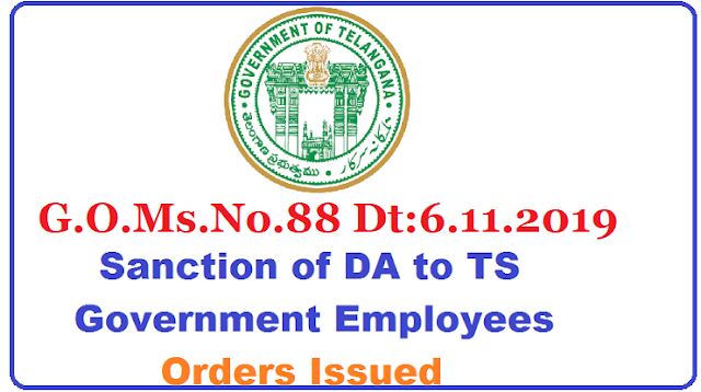 G.O.Ms.No.88 Dt:6.11.2019 ALLOWANCES – Dearness Allowance – Dearness Allowance to the State Government Employees from 1st of January, 2019– Sanctioned – Orders – Issued. జనవరి 2019 డీఏ(3.144%) విడుదల/2019/11/GO-Ms-No-88-DA-Dearness-allowance-to-state-government-employees-sanctioned-orders-issued.html